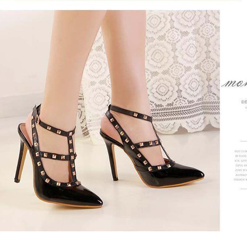 ed7a9530f90f Acheter Chaussures De Marque Femme Talons Hauts Femmes Pompes Talon  Aiguille Chaussures Pour Femmes Nude Bout Pointu Chaussures De Mariage  Taille 35 40 De ...