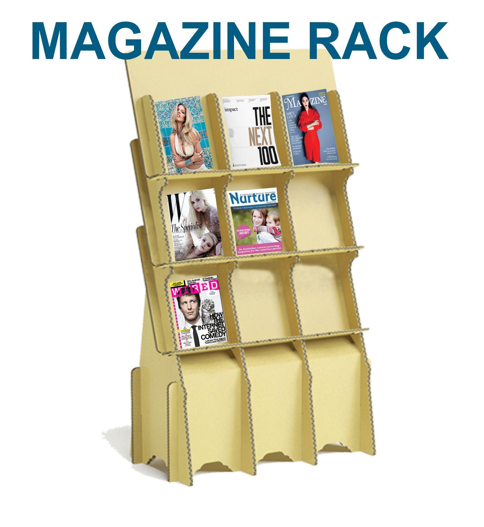 Corrugated Paper Magazine Rack Newspaper And Periodica Racks Book ...
