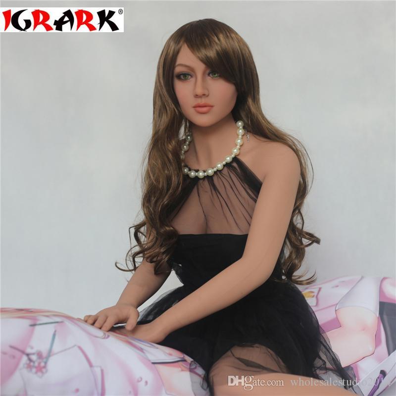 igrark TPE Love Doll Real Vagina Pecho Anal Oral, Mejor Juguete Sexual, Completo de Silicona Realista Muñeca Sexual para Hombres, 165cm158cm140cm muñecas reales