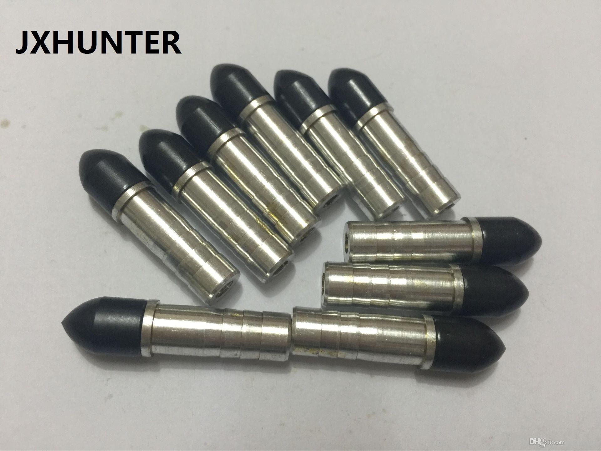 50 conjuntos Crossbow arrow field point com inserção de flecha de alumínio para caça de caça OD 7.6mm