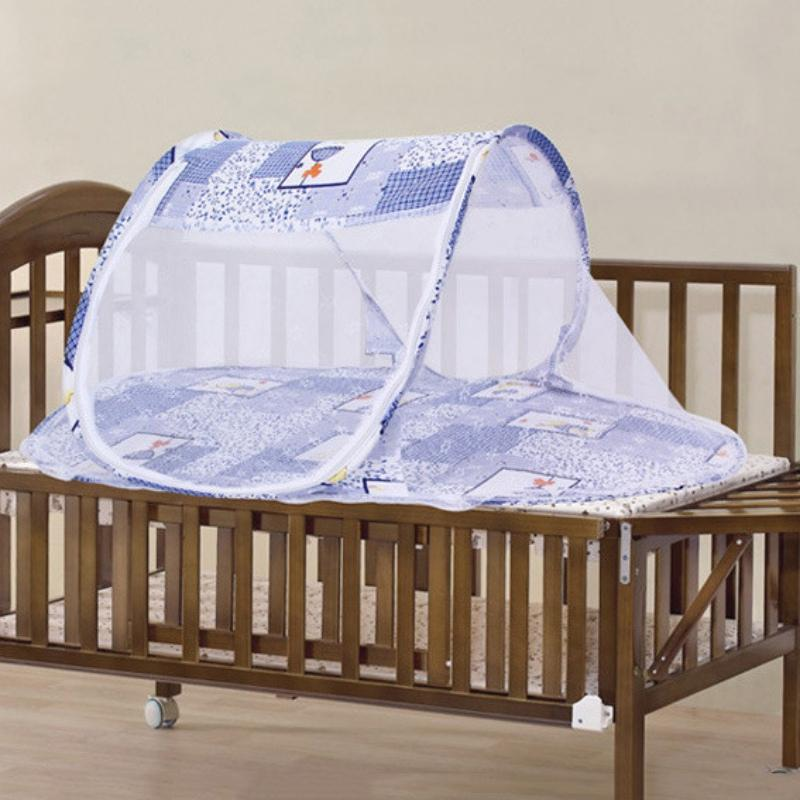 5b3d0e8ce52a5 Wholesale New 2017 Portable Cute Infant Baby Bed Crib Folding Mosquito Net  Comfortable Infant Cushion Mattress Pillow Baby Cribs With Canopy Tent Crib  From ...