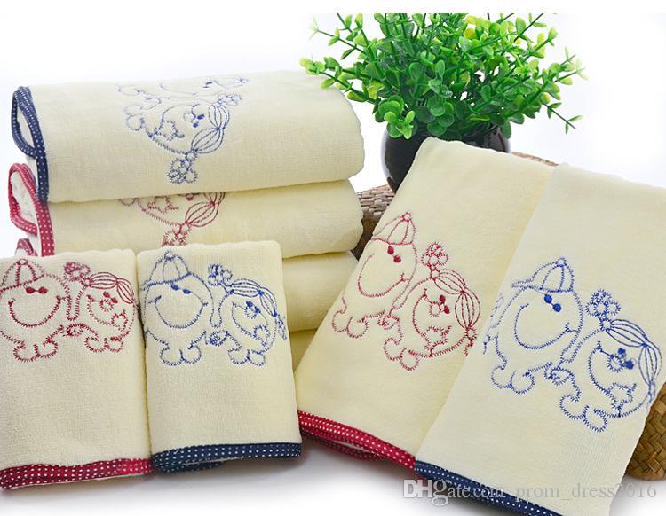 Baby Face полотенце оптом бамбуковые волокна полотенца супер мягкие и удобные 34 * 77 Младенцы и дети Очищение лица Полотенца оптом HY1210
