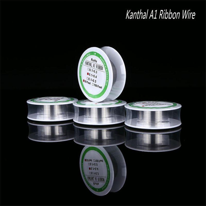 A1 band heizdraht widerstand 30 füße 30ft spule 0,1 * 0,3mm 0,1 * 0,4mm 0,1 * 0,5mm für rda rba dhl