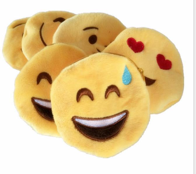 Emoticon Round Emoji Coin Purse Chain Smiley Wallet Bag Qq ...