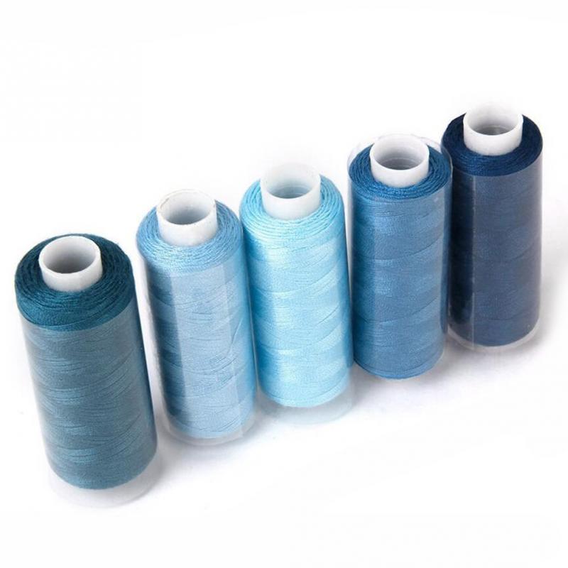 De calidad superior 250 yardas hilo hilos de coser hilo máquina de bordar de algodón parche embarcaciones suministros coloridos volante