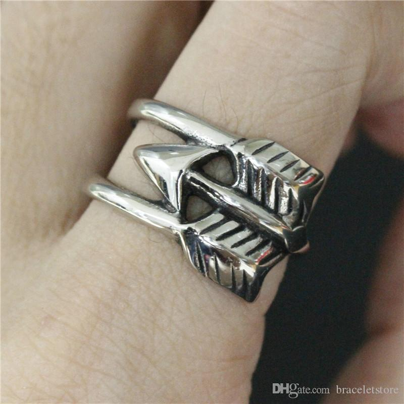 Newest Design Cool Arrow Ring 316L Stainless Steel Fashion Jewelry Hot Selling Ring