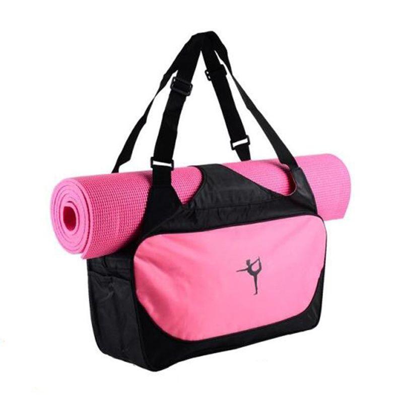 Yoga Mat Bag Waterproof Backpack Shoulder Messenger Sport Clothes Duffel Bag For Womens Fitness Gym Bag no Yoga Mat Moderate Price