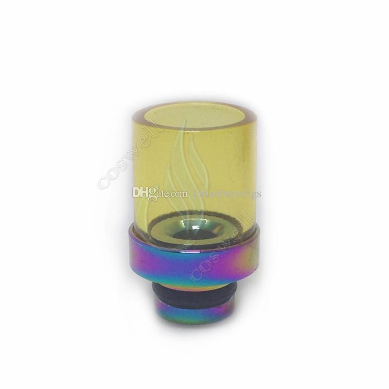 New Rainbow Glass Drip Tips a foro largo ato Pyrex Bocchino in acciaio inossidabile Punta gocciolante RBA RDA Mod Vaporizzatore Atomizzatore Gocciolamento