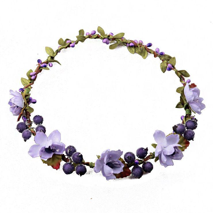 Rattan Artificial Berries Flower Headpiece Headband Hairband Head Wreath DIY Floral Bridal Garland Crown Halo Wedding Hair Accessories