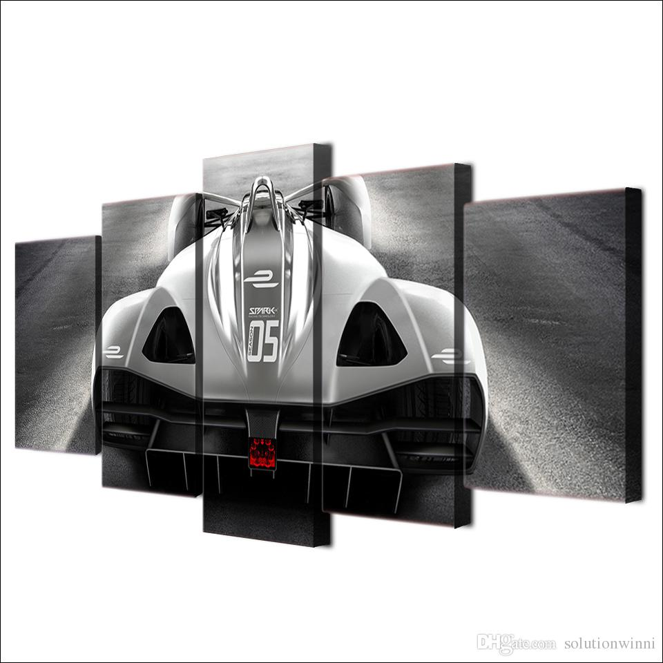 Framed HD Printed Super Roadster Luxury Car Wall Art Poster Pictures Room Decoration Artworks Canvas Modern Oil Painting