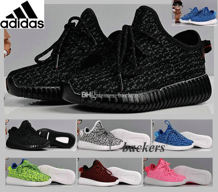 8975281af0009 Original Kanye West Adidas Yeezy 350 Boost Low Kids Shoes Baby Brand  Sneakers Babies For Boys Girls Black Size 28 35 Children Mens Shoes Loafers  From ...