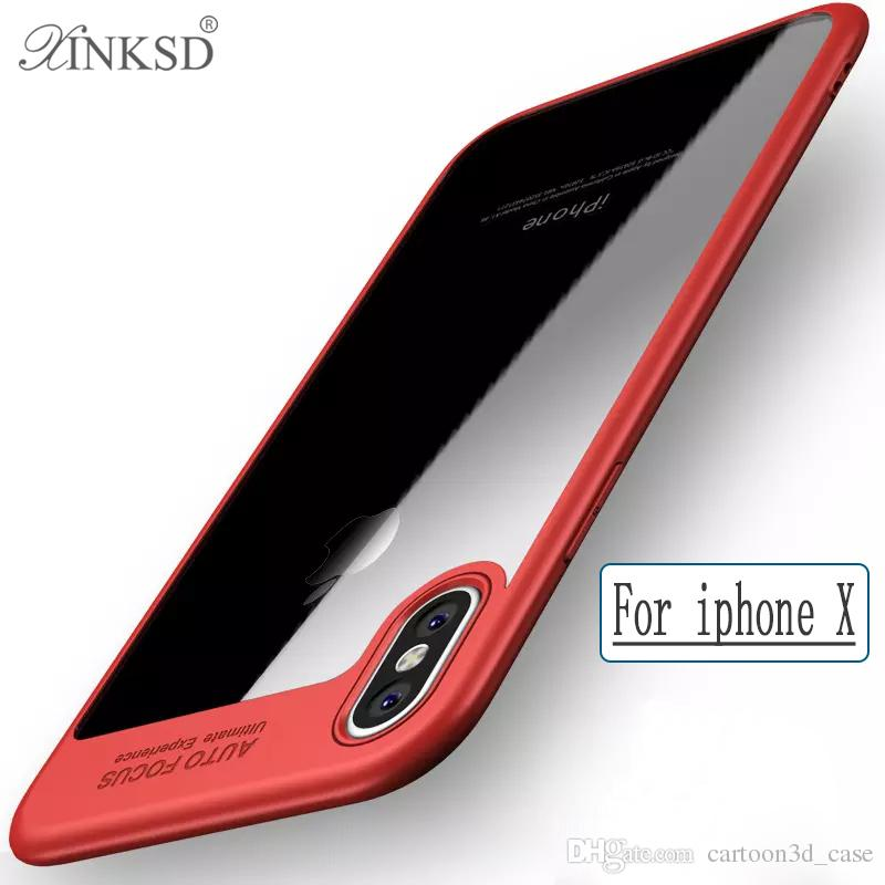For iPhone 8 Plus iPhone X note 8 s8 plus cell phone Case Back Cover Case ultra thin TPU Clear Shockproof Case Phone Protector