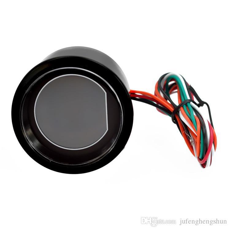 Sıcak 2 inç 52mm Su Sıcaklığı Göstergesi 12 V Mavi Kırmızı LED Işık Tonu Lens LCD Ekran Araba Dijital su Sıcaklık Ölçer enstrüman