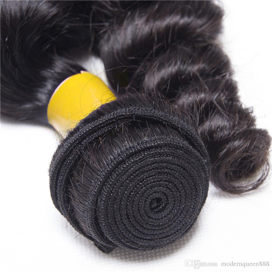 7A Wholesale Hair Raw Indian Looses Curls Human Weave Bundles Indian Loose Wave Hair Extensions 3 Bundles Cheap Loose Wave Indian Hair Wefts