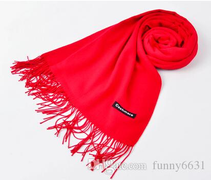 automne hiver haute qualité femme laine filature écharpe dames couleur pure purl garder écharpe chaude 200 * 65 cm 14 couleurs livraison gratuite
