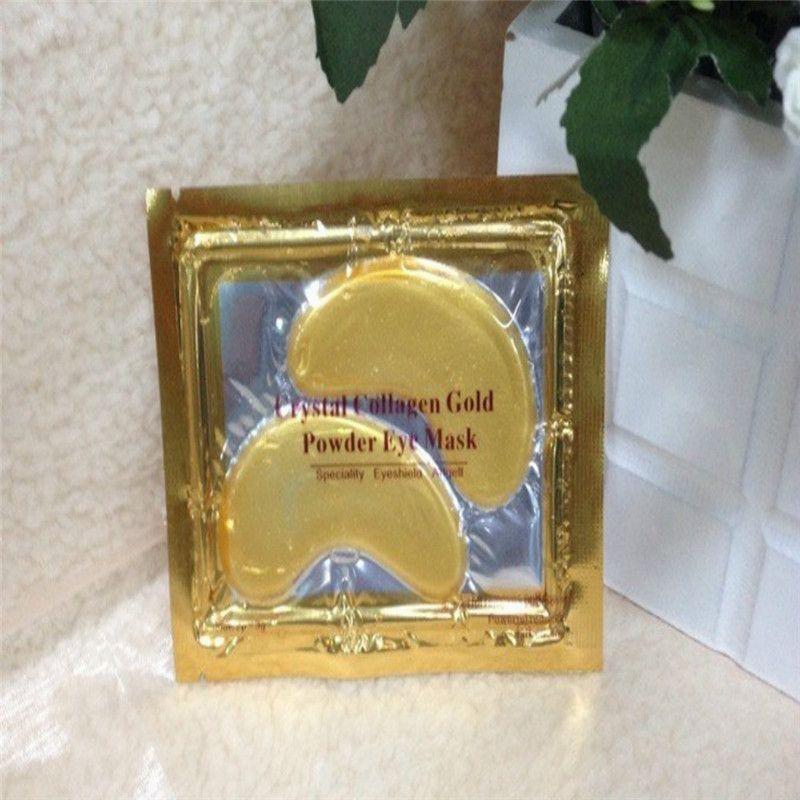 2017 Anti-Wrinkle Crystal Collagen Gold Powder Eye Mask Golden Mask stick to dark circles DHL ship