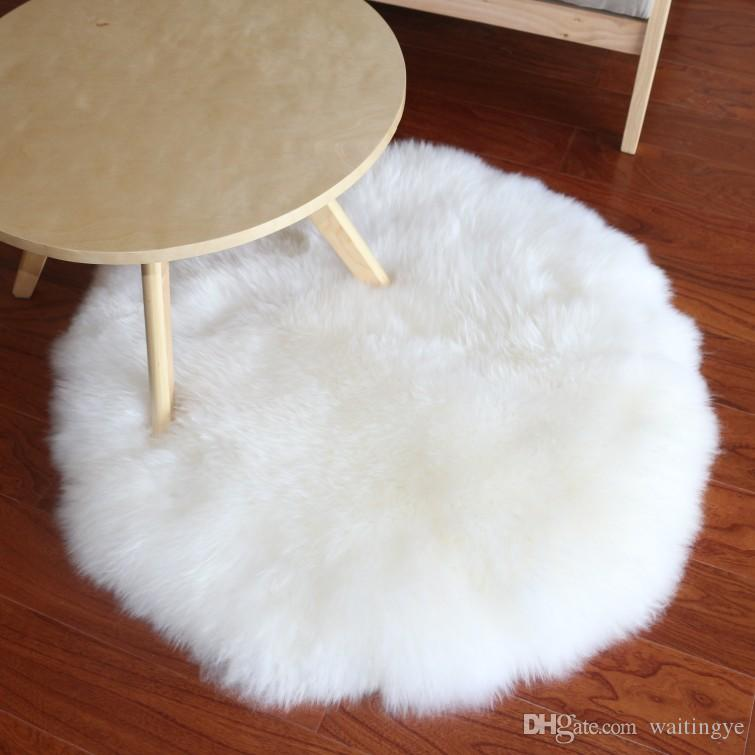 Real Sheep Fur Rug For Home Deco Sheepskin Fur Throw For