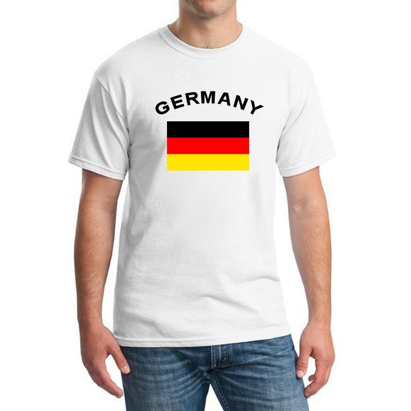 독일 팬들 Cheer Flag T-Shirts 2016 유럽 축구 스포츠 휘트니스 체육관 축구 여름 독일 국기 T 셔츠 남성용