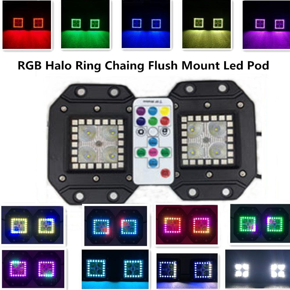 3 2 Inch 16w Halo Ring Rgb Chasing Cree Led Pod With Rf