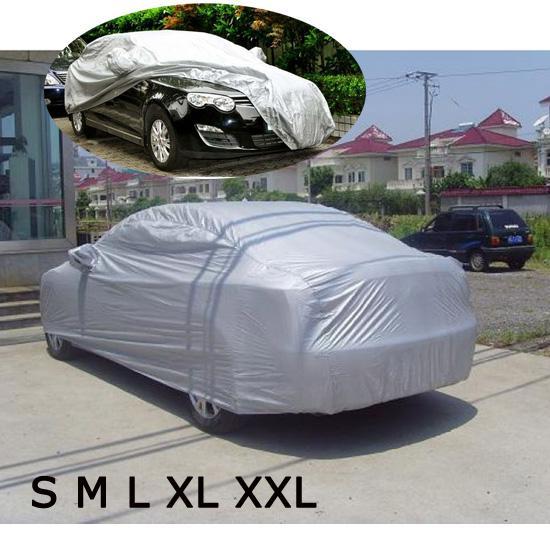Universal Car Covers Shield Styling a prueba de polvo interior al aire libre sombrilla protección contra el calor UV resistente a los arañazos