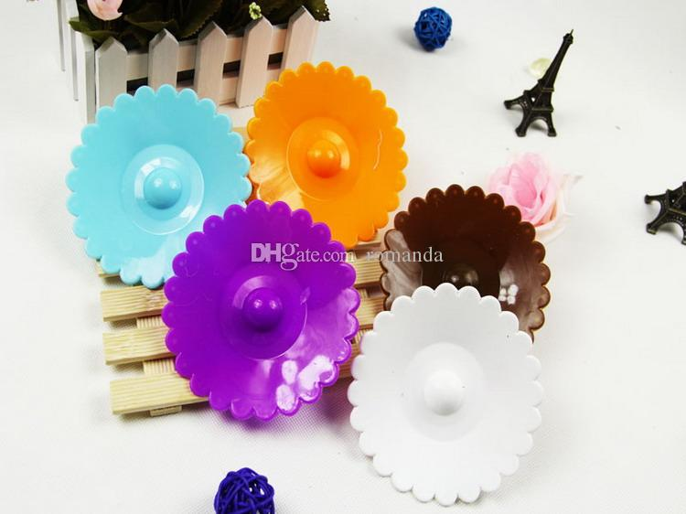 DHL Shipping Free Lovely Bow Watertight Silicone Cup Lid Cover Mug Cap Block dust leak proof leakproof Set selection