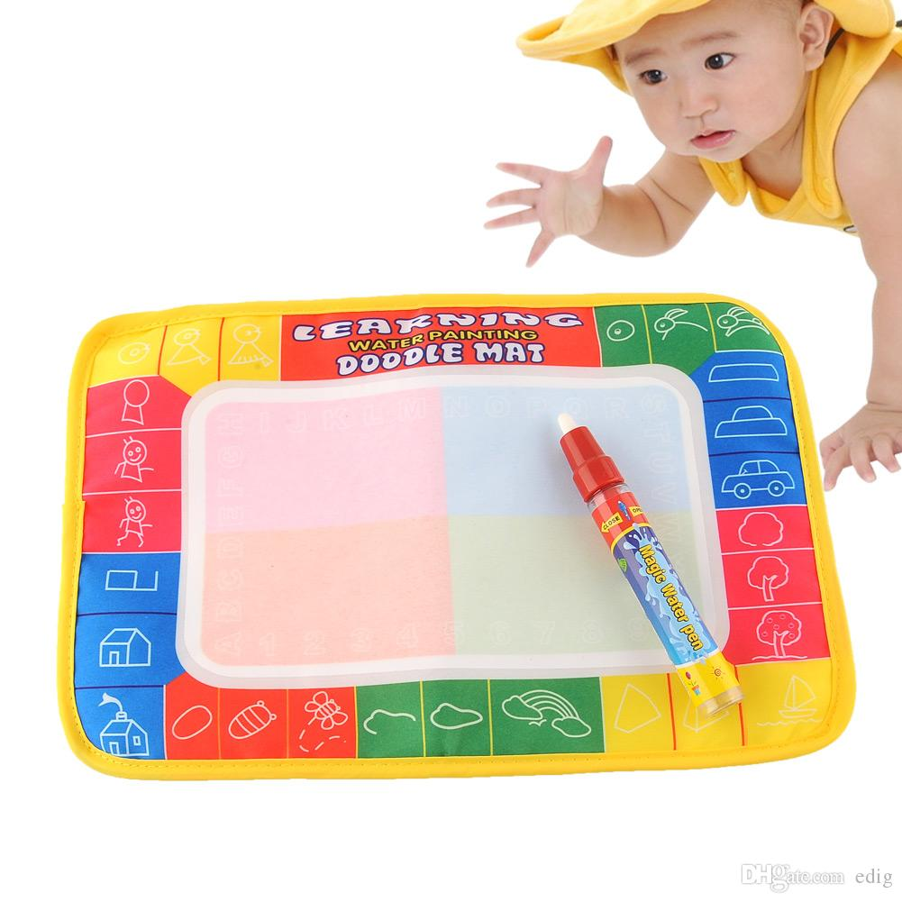 DOODLE Magic 29X19cm Water Drawing Painting Writing Learning Mat Board with Magic Pen Doodle creative Toy Baby Safe Indoor Gift Eco-friendly