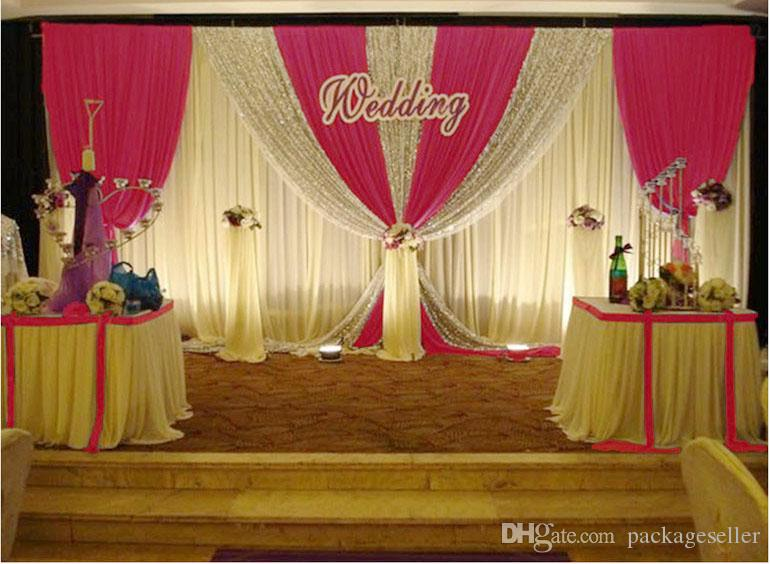 Wedding decorations props 3m6m sequins beads edge design fabric wedding decorations props 3m6m sequins beads edge design fabric satin drape wedding backdrop curtain party stage celebration favors golden wedding junglespirit Image collections