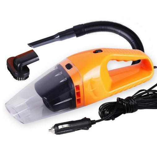 Aspirapolvere auto portatile a secco ea secco a doppio uso con alimentazione 120W 12V 5 metri di cavo, superabsorbico rifiuti auto,