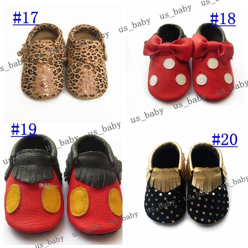 2016 Fedex UPS Newborn soft sole gold dot shoes zig zag black white design Leather baby chevron moccasins Baby leopard Moccs