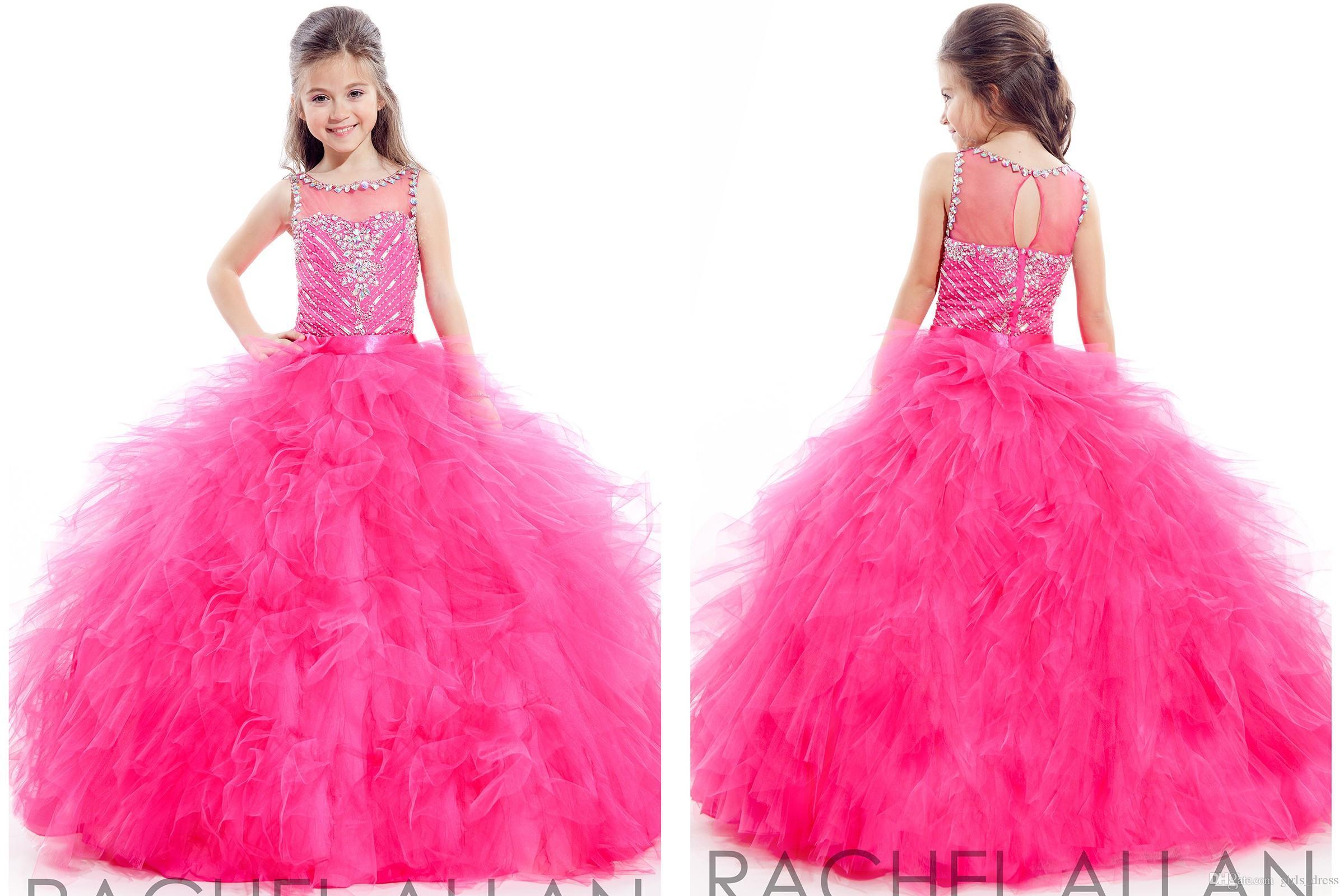 Junior Teens Hot Sale Dress Glitz Ball Gowns Jewel Floor Length ...