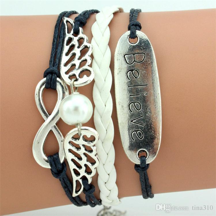 Nouveau mode 16 styles bracelet coloré femmes bracelets bracelets de charme bracelets multicouches amitié tissés bracelets livraison gratuite B0349