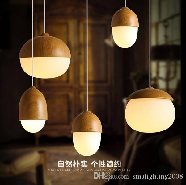 creative home lighting. discount dining light fixture nuts creative acorn home fixtures fashion small mushrooms glass wood pendant brushed nickel pendent lighting