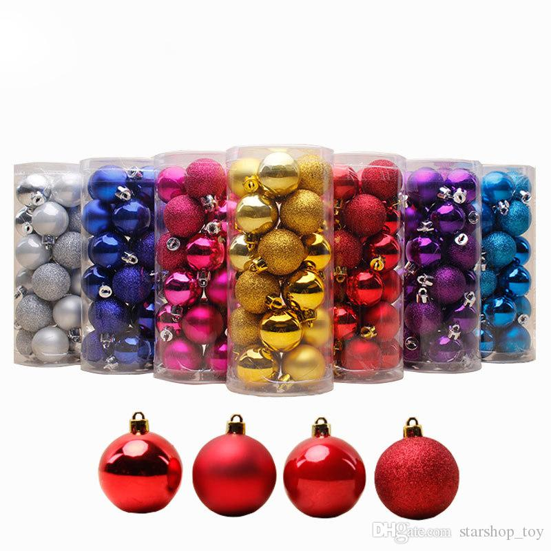 barrel plating multicolor christmas ball ornaments shatterproof christmas decorations holiday wedding party decoration tree ornaments jn b10 big ornaments - Christmas Ball Decorations