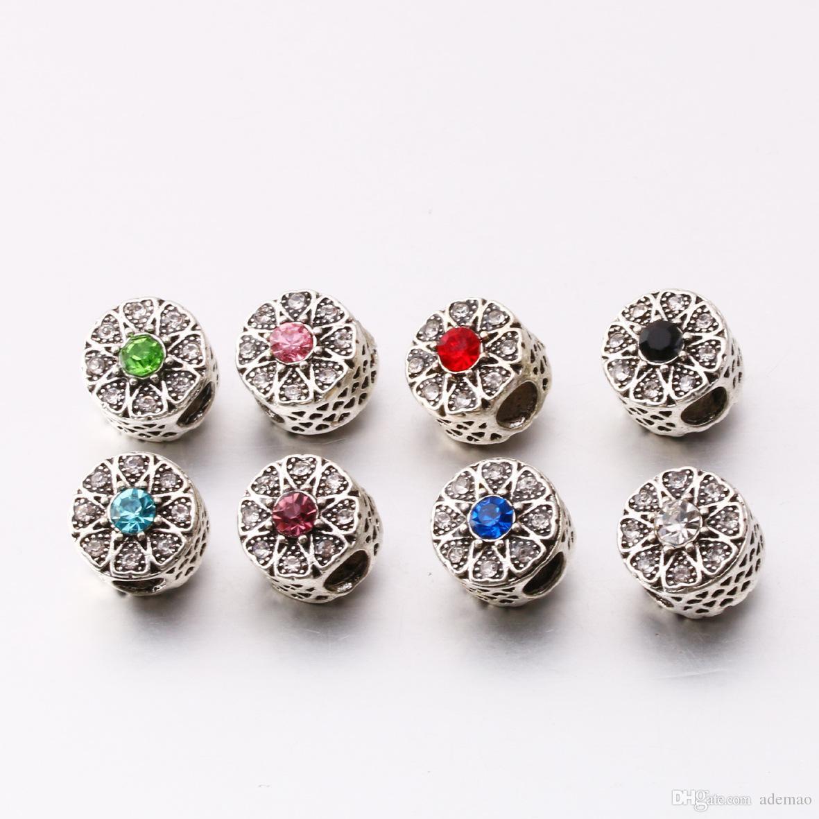 2017 Le nouveau Hollow perles de neige bricolage accessoires nouveau charme européen perles breloques bracelets pour les bracelets