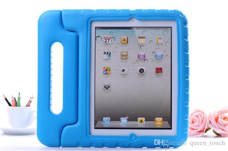 Multifunktions-Kind-sicherer weicher EVA-Licht-Schaum-Gewichts-Schlag-Beweis-Handgriff-schützender Fall mit Standplatz für iPad 2/3 / Ipad Luft ipad Mini Pro