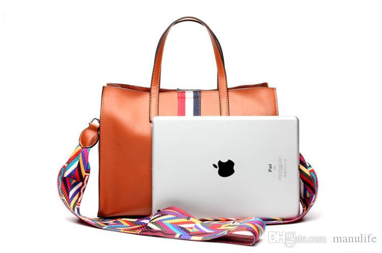 En gros mode simple sac à bandoulière en cuir de vache sacs à main concepteur sacs fourre-tout pour les femmes à forte capacité chute shiipping