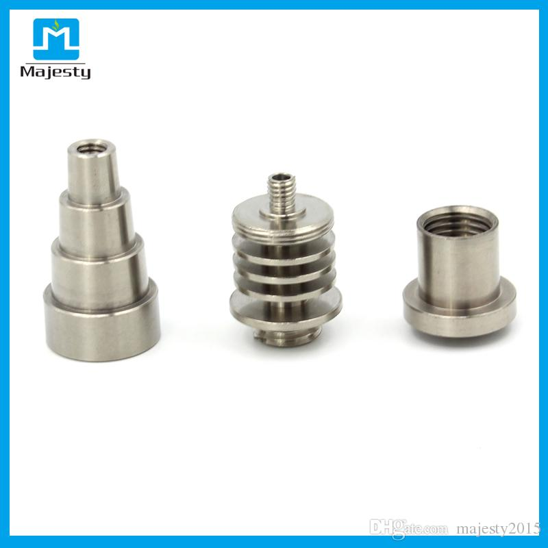 Wholesale 6 in 1 16mm domeless gr2 titanium nail fits both male and female joints and fits all Majesty e/dnail kits