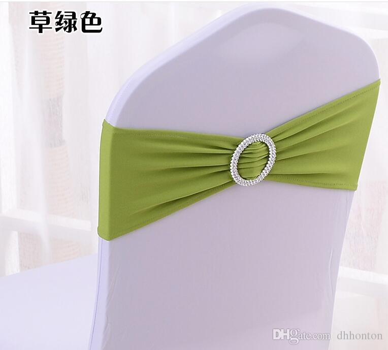 Spandex Lycra Wedding Chair Cover Sash Bands Wedding Party Birthday Chair buckle sashe Decoration Colors Available WT032