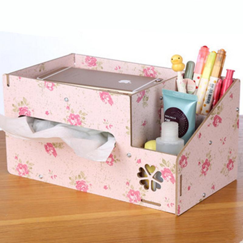 makeup box storage diy. 2018 new diy wooden storage box tissue boxes mobile phone remote control jewelry makeup organizer desktop home decor from wuzuanbing0758, $15.94   dhgate. a