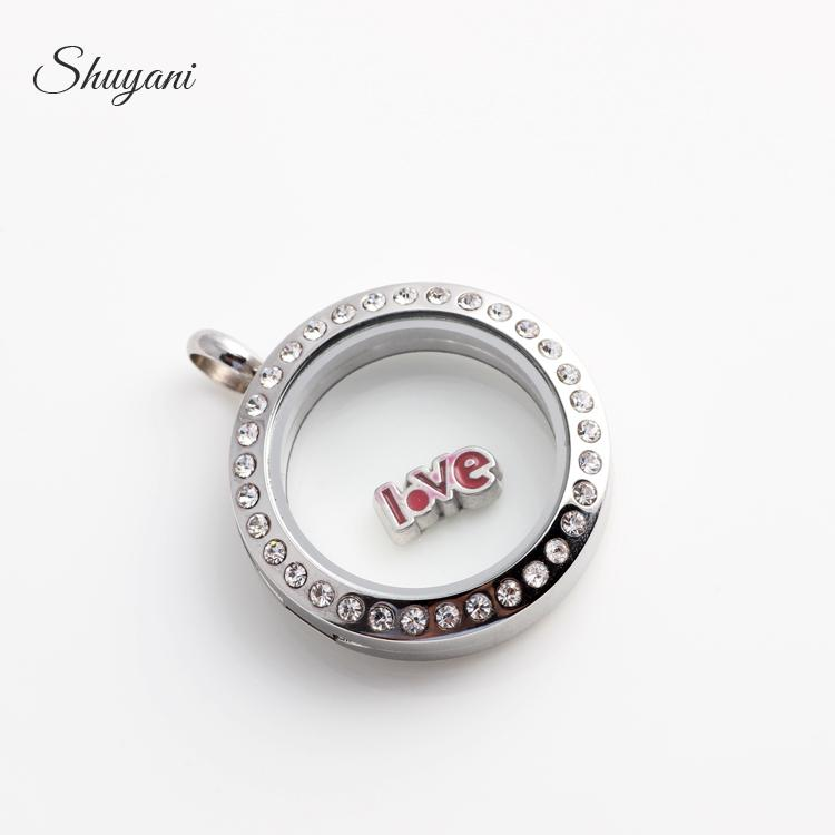 Alloy Metal Charms for Bracelet Letter Love Words Floating Lockets Charms for Living Memory Glass Locket Necklaces
