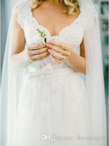 Bohemio estilo hippie Vestidos de novia para el Reino Unido Diseño de venta de encaje completo con faldas largas Barato Boho Chic Beach Country Vestidos de novia MZ