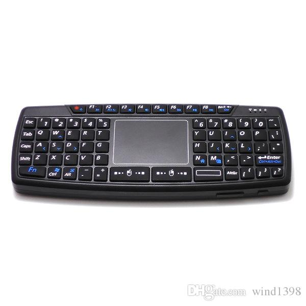 Hot selling K168 Mini Qwerty RF2.4GHz Wireless Mini Keyboard with Touch Pad & US Layout For Tablet PC & Laptop & Android TV BOX