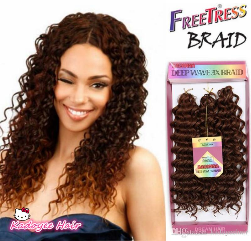 2019 Synthetic Braiding Hair Deep Wave Twist Crochet Braids