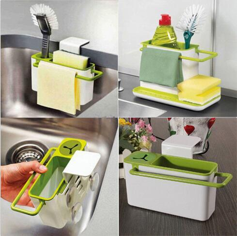 2016 Hot Sink Draining Washing Rack Storage Suction Cups Brush Sponge  Holder Kitchen Tool Kitchen Cupboard Gadgets Kitchen Electronic Gadgets  From ...