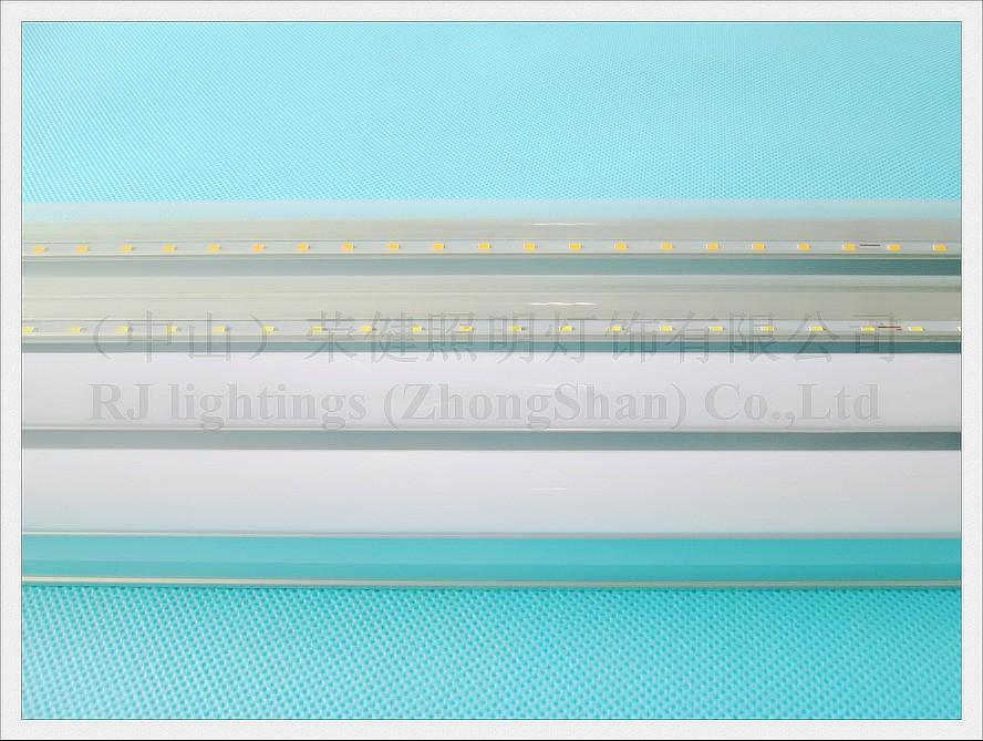مدمج LED أنبوب ضوء مصباح T5 أدى أنبوب الفلورسنت 1200 ملليمتر 4ft 20 واط AC85V-265V الألومنيوم SMD2835 96 LED