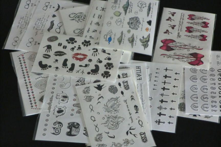 9.5 * 14.5 cm Atacado Tipos Mistos Tatuagens Temporárias Tatuagem Adesivos Para Body Art Pintura À Prova D 'Água Mix projetos