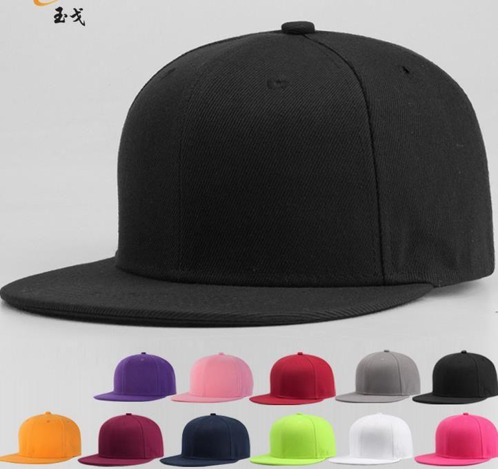 441282fcd Newest Blank Plain Snapback Hats Unisex women Men's Hip-Hop adjustable bboy  sports Baseball Cap sun hat colorful Fashion Accessories gift