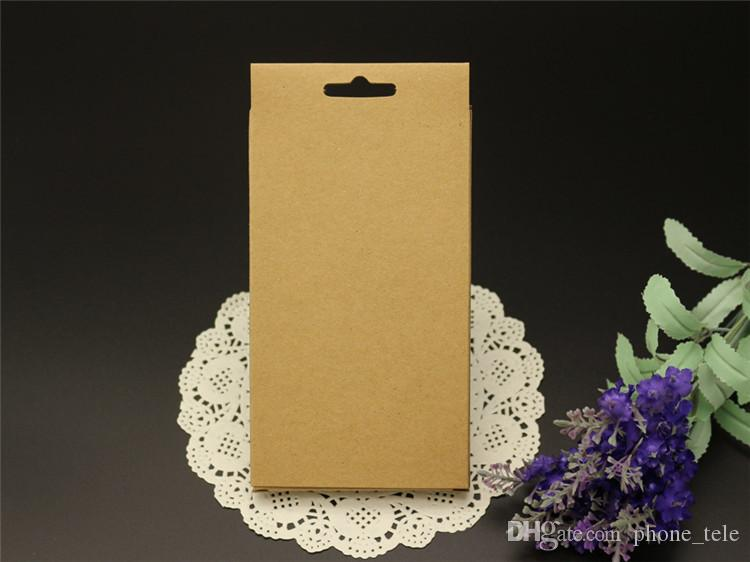 Universal Phone Case Cover Package Box Plain Kraft Brown Paper Packing Boxes For iphone 6 6S 7 plus SE 5S 4S Samsung S6 S7 edge S5 Note 4 5