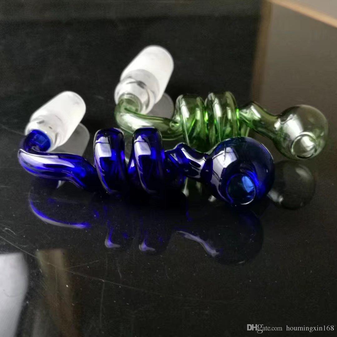 Pote de alta calidad del tornillo, Bongs de cristal al por mayor, cachimba de cristal, accesorios de la tubería de humo