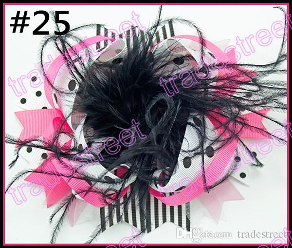 6'' over the top bows for hair feather hair bows with great clip for hair barrette big sport clips hair acessories